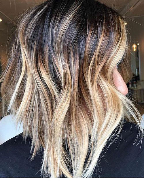 Blonde And Brown Highlights On Short Hair