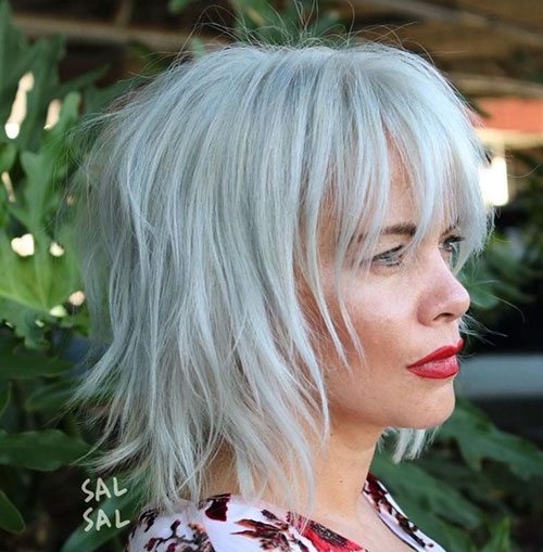 55 Best Short Layered Bob With Bangs Latest Hairstyles And Haircut Pictures