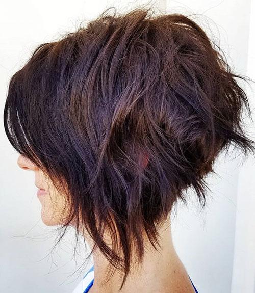 Short Layered Bob Haircuts With Bangs