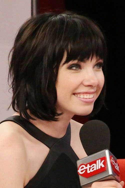 Short Layered Hair With Bangs