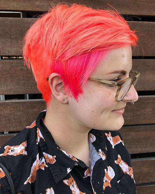 Colour Pixie Hair