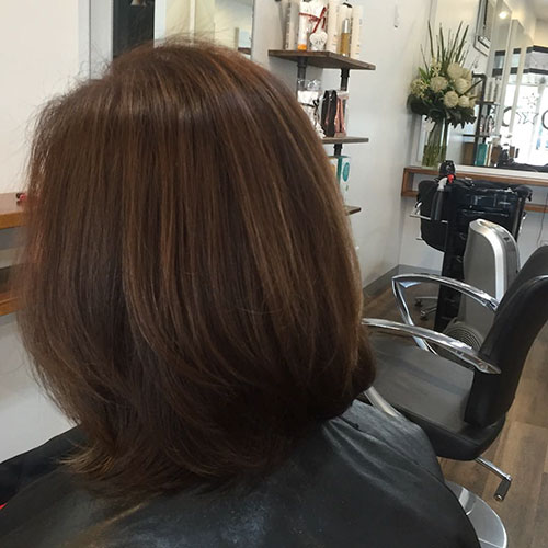 Short Back View Hair Style For Women Over 50