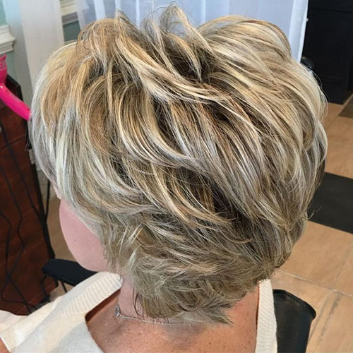 Short Hairstyles For Women Over 50 Back View