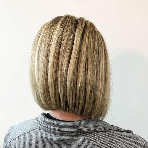 Back View Short Hair For Women Over 50