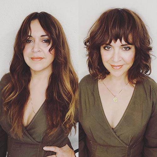 Haircuts For Short Wavy Hair With Bangs