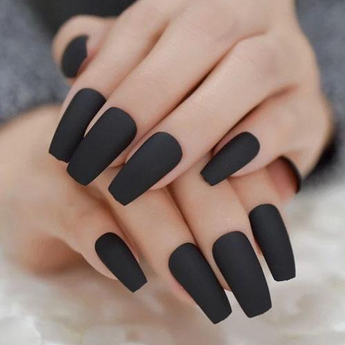 Black Nails Acrylic