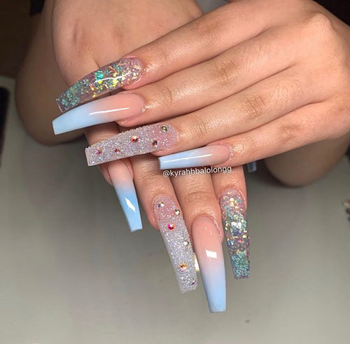 Cute Colorful Acrylic Nails