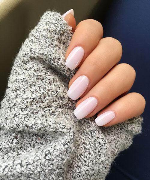 Neutral Acrylic Nails