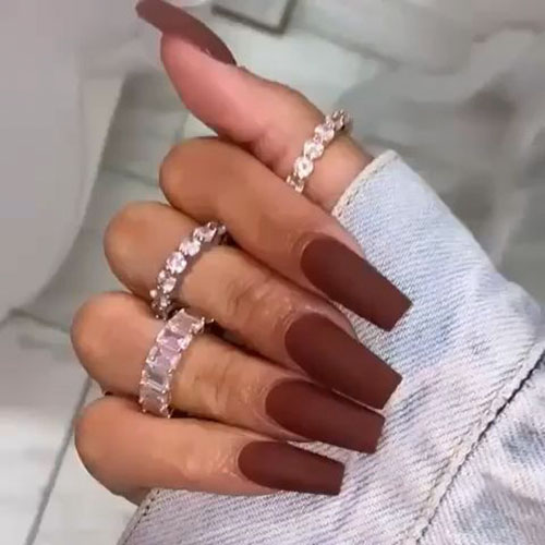Chocolate Brown Nails