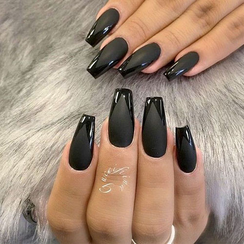 Acrylic Nails In Black
