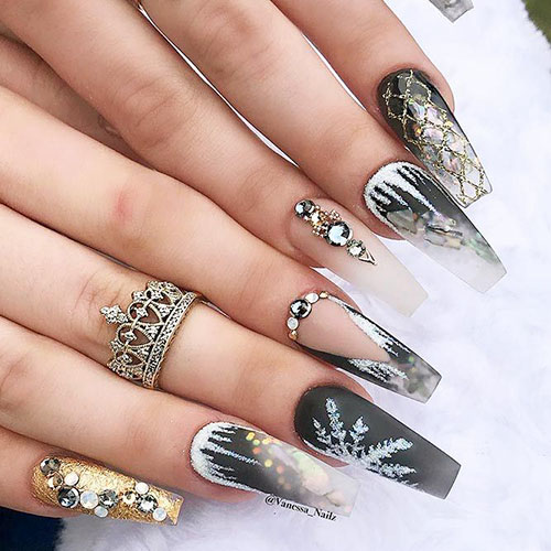 Curved Coffin Shaped Nails