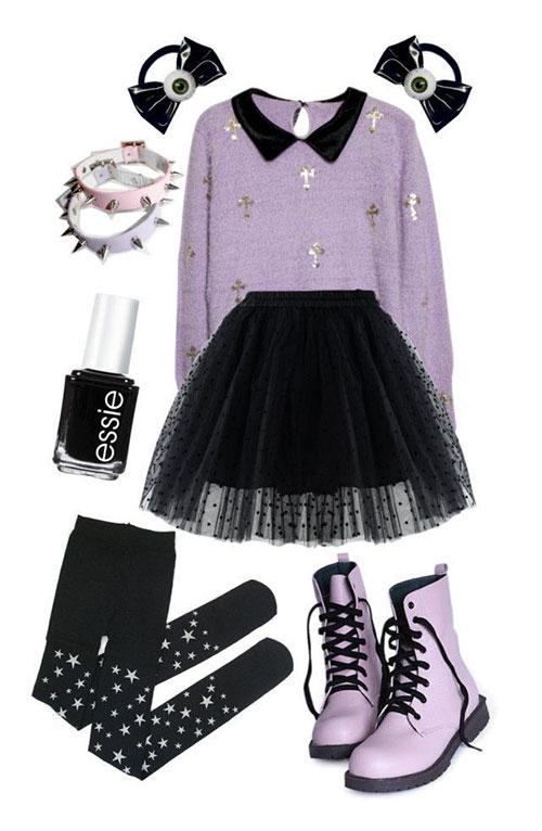 Unique Pastel Goth Outfits