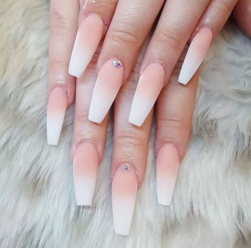 Rounded Coffin Shaped Nails
