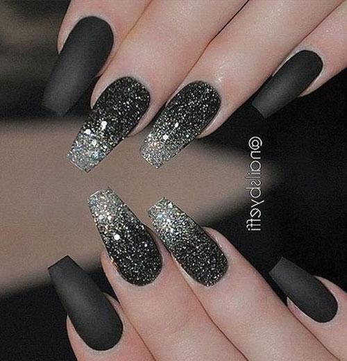 Black Acrylic Nail Ideas
