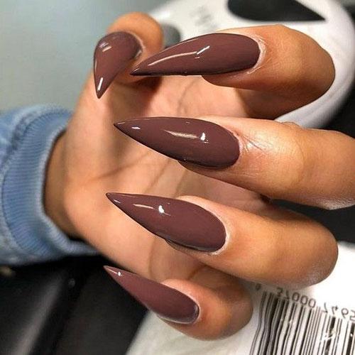 Brown Stripe On Nail