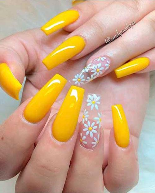 Highlighter Yellow Nails
