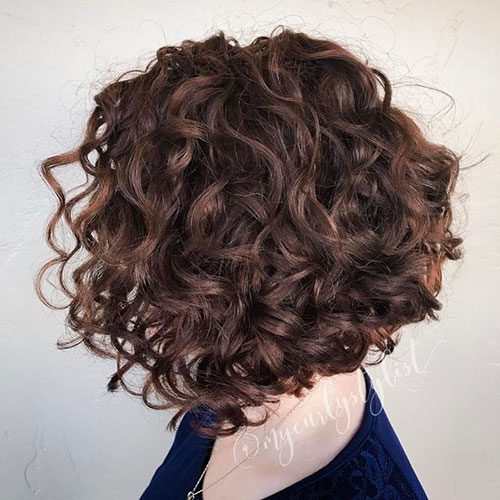 Stacked Bob Curly Hairstyles
