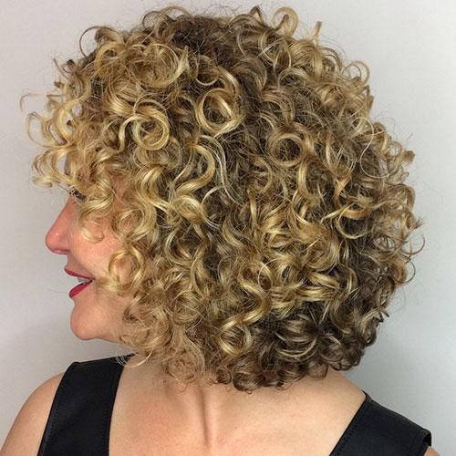 Stacked Bob Haircut Curly Hair