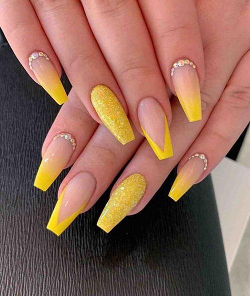 Yellow Nails Acrylic