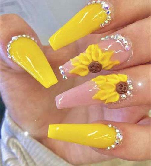 Yellow Acrylic Nail Ideas