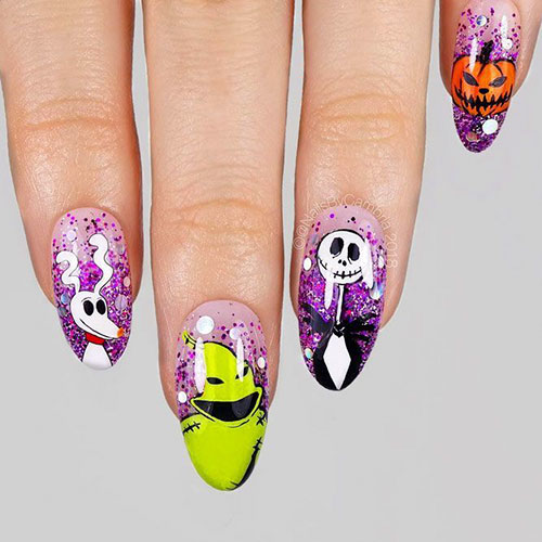 The Nightmare Before Christmas Nails