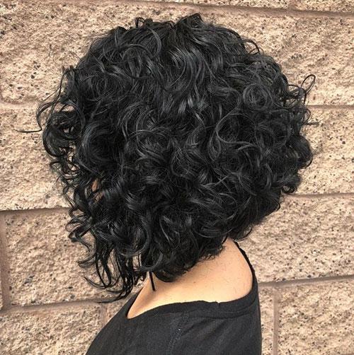 Curly Bob Cut